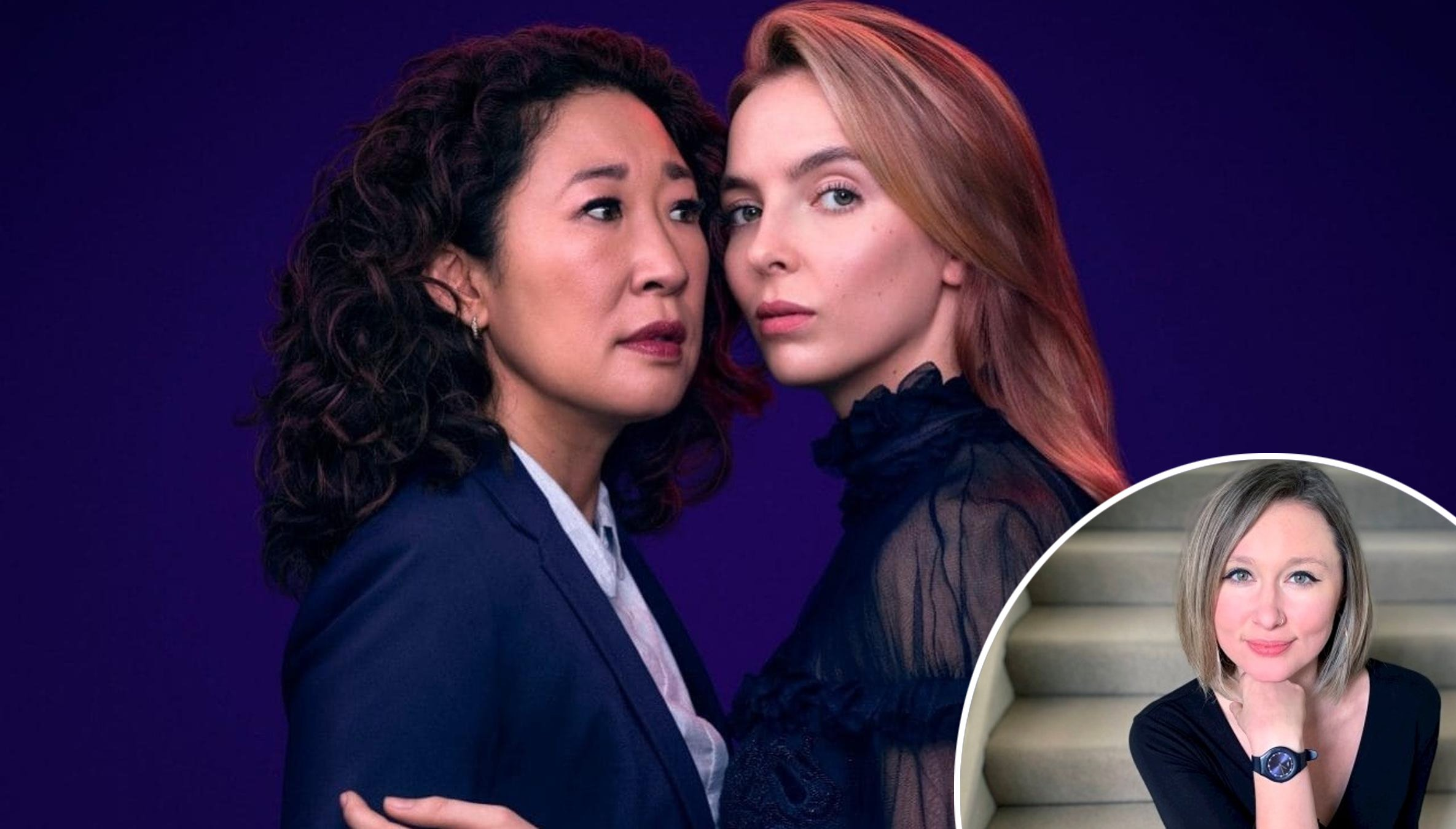 Catherine Grieves and the cast of Killing Eve