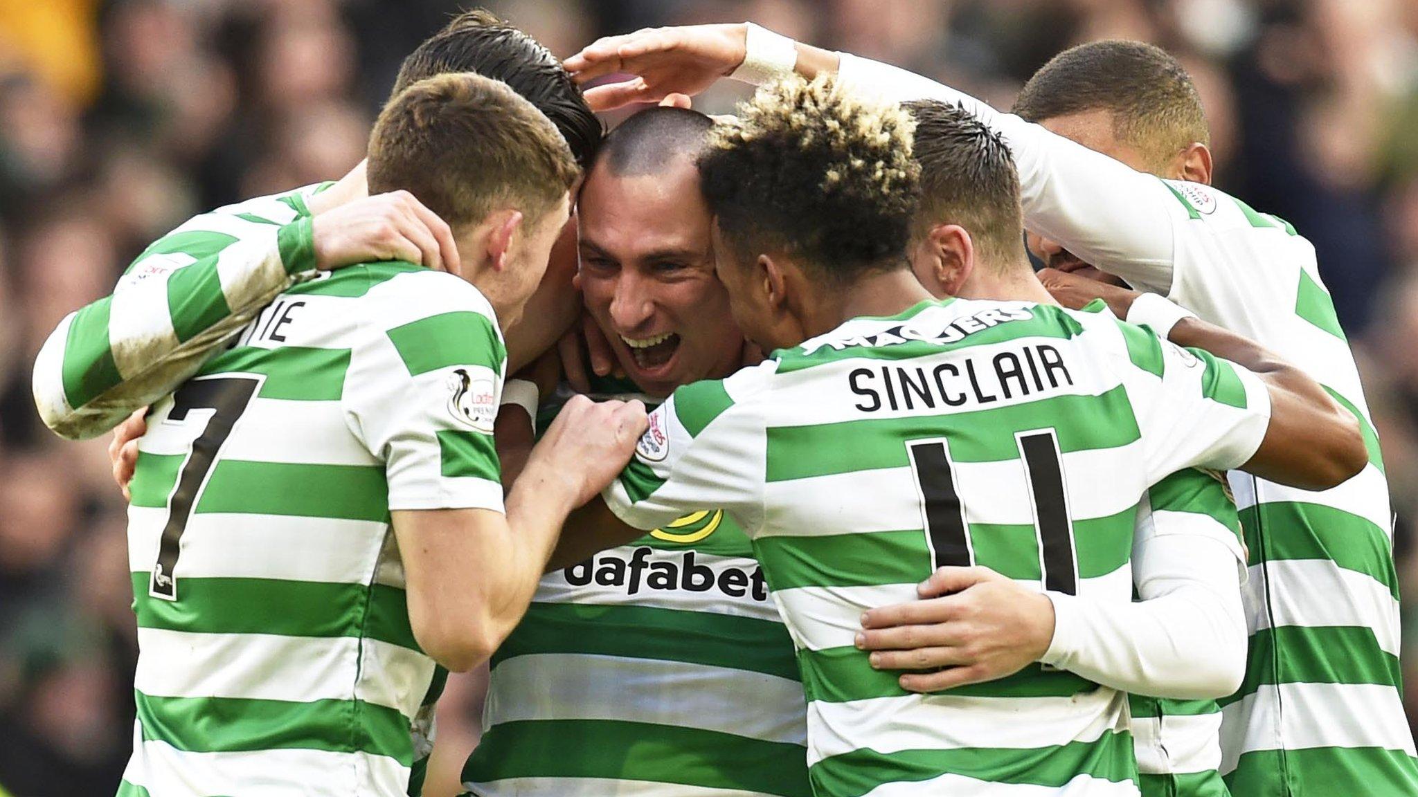 Celtic 5-0 St Johnstone: Scott Sinclair scores treble as holders reach quarters