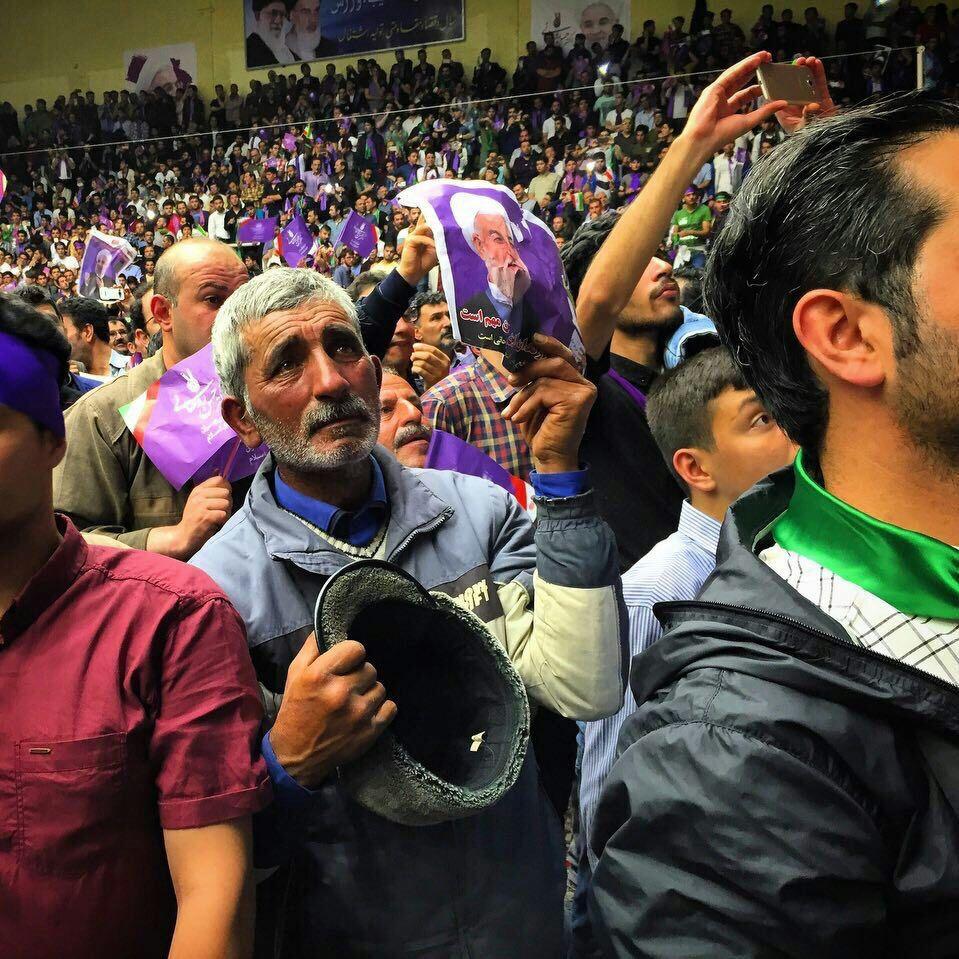 Image of Rouhani supporter known as Mirza Aqa