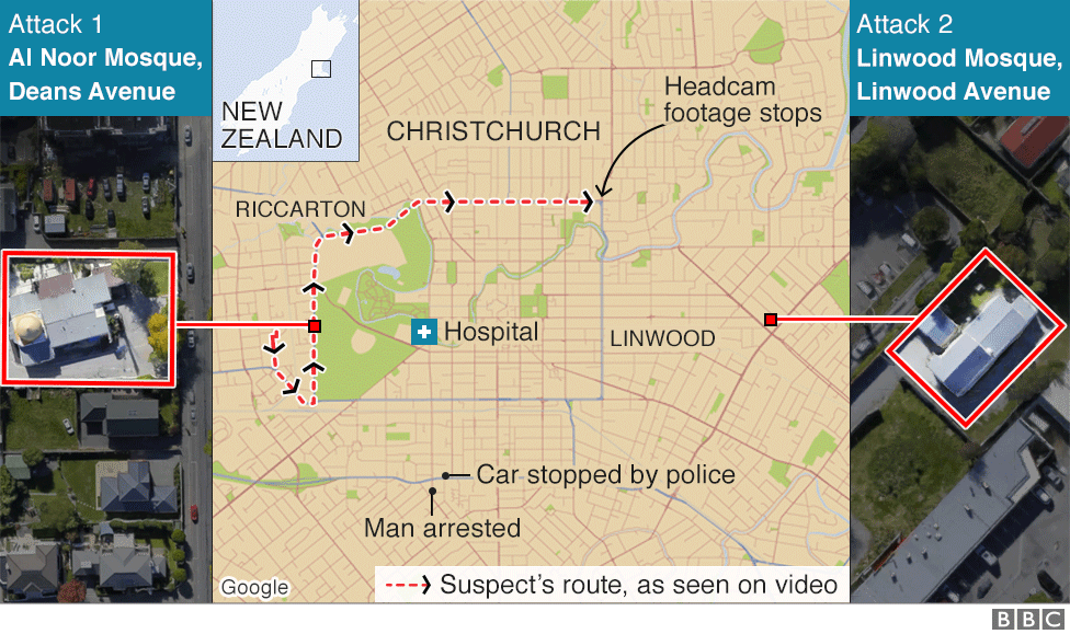 Map of attacks