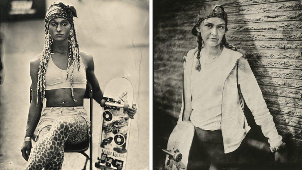 Portreti skejterki Džesmin i Amelije