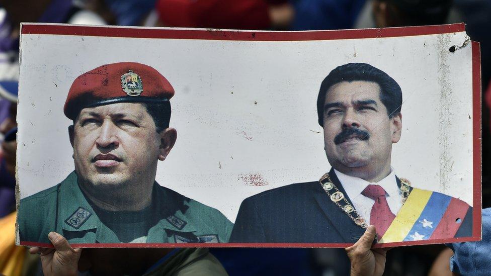 Maduro, 2013'te Chavez'in ölümünden sonra devlet başkanlığına geçti.
