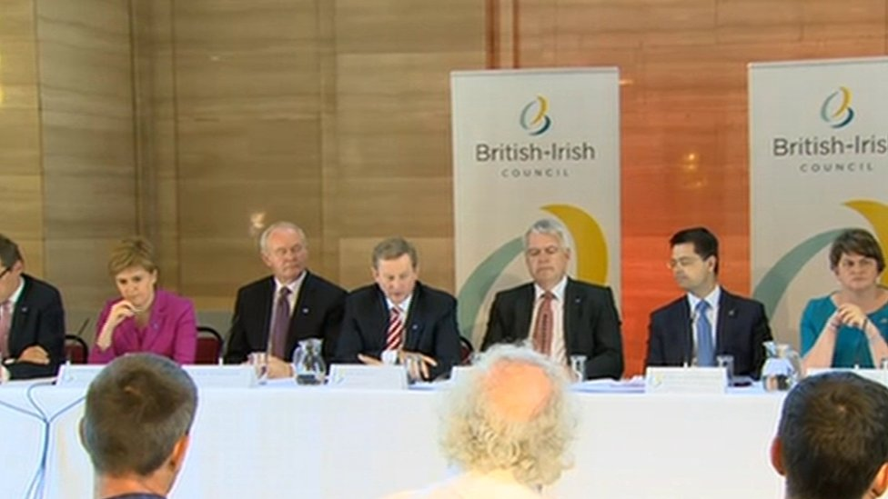 A press conference was held following the British-Irish Council (BIC) meeting in Cardiff