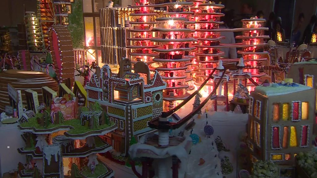 Architects make 'ideal' city out of gingerbread