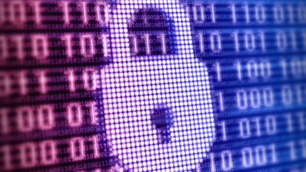 La pantalla de una computadora