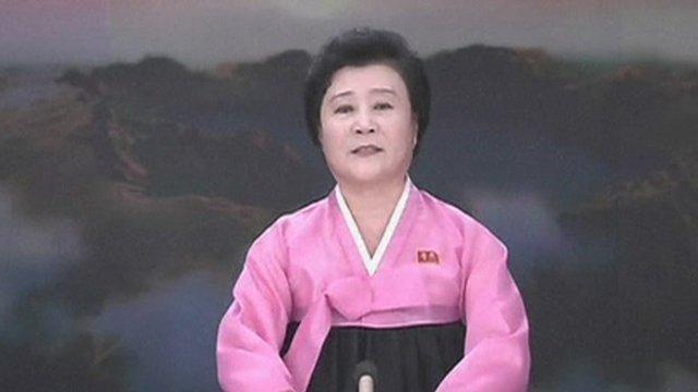 North Korean state TV presenter