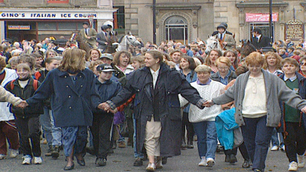 Common Riding protest in 1996