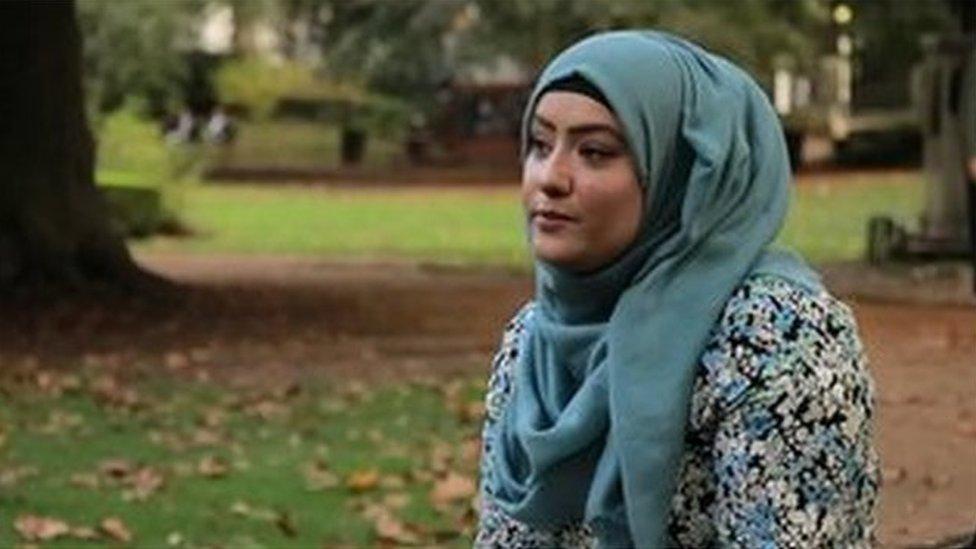 Academic Dr Suriyah Bi sitting in the park