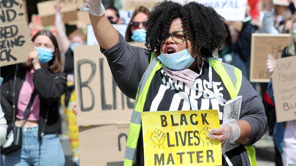 Black Lives Matter protest in Belfast