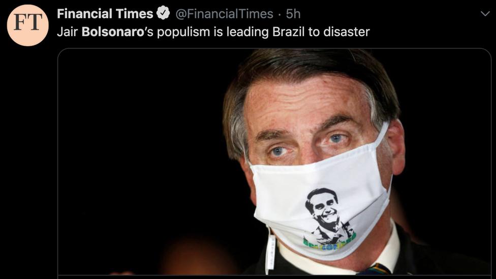 A imagem de Bolsonaro na imprensa internacional: de 'quebrar Brasil' a 'levar país a desastre'