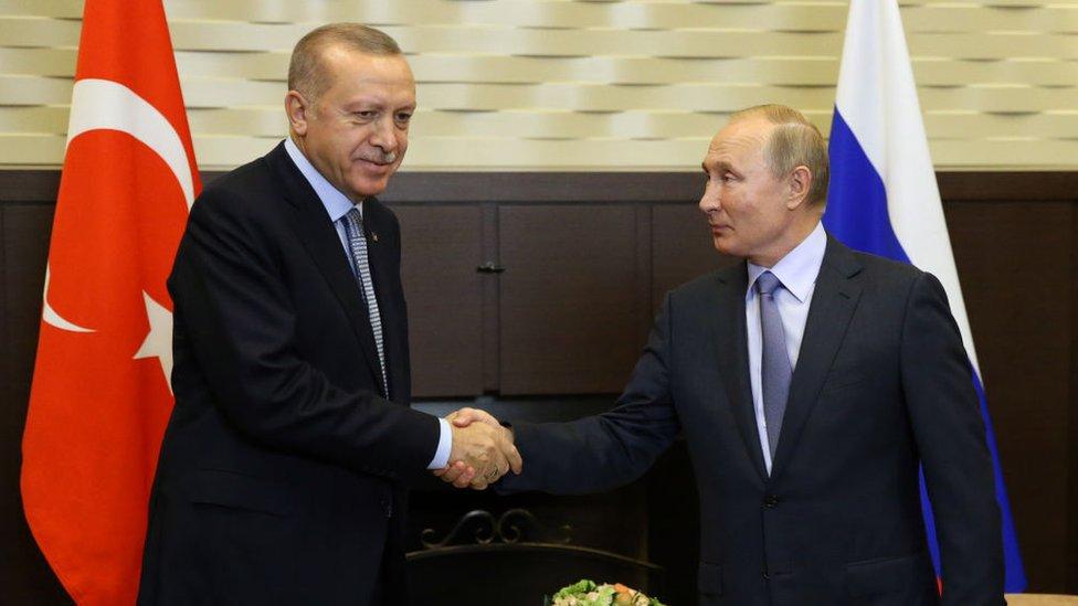 Vladímir Putin y Recep Tayyip Erdogan.
