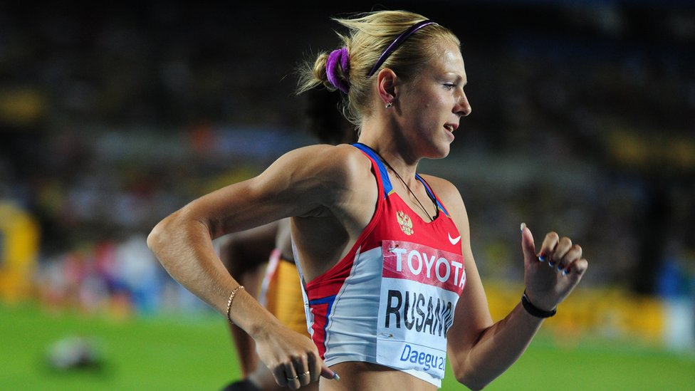 Russia's Yuliya Rusanova competes in the women's 800 metres semi-finals at the International Association of Athletics Federations (IAAF) World Championships in Daegu in September 2011.