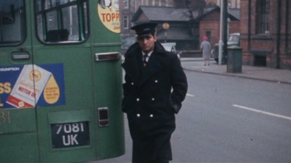 Indian bus driver in Wolverhampton in 1960s
