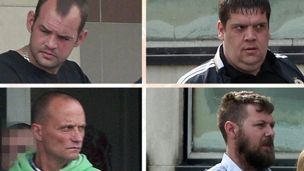 Clockwise from top left: Alan Wilson, Joseph Blair, Ryan Smith and Robert Ralph