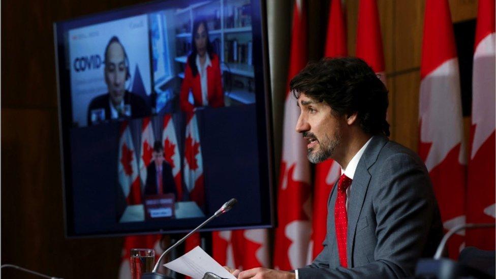 O premiê canadense Justin Trudeau