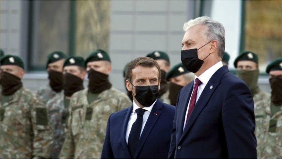 法國總統馬科龍訪問立陶宛時同季哈諾夫斯卡婭會面,似乎是歐盟正式承認她作為白俄羅斯合法領導人的前奏
