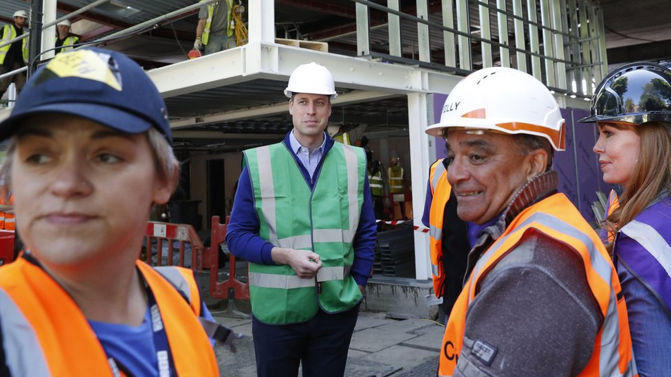 Duke of Cambridge and workers