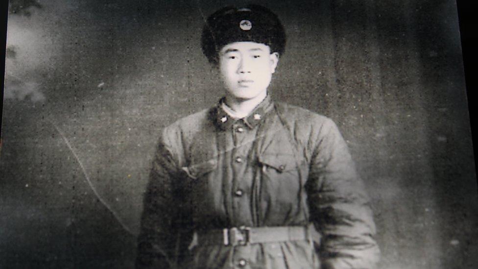 Wang Qi in Chinese army uniform