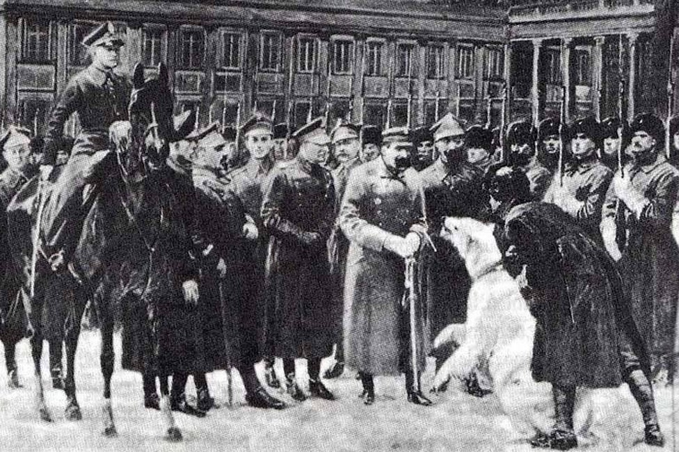 Painting of Baśka and soldiers