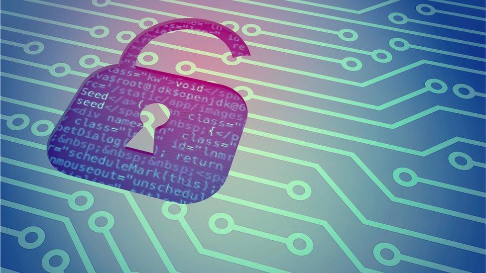 Cyber crime graphic image