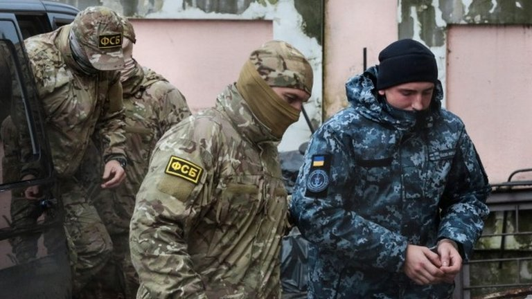 Russia ordered to release Ukraine sailors