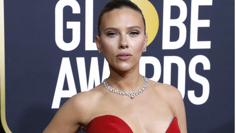 Scarlett Johansson durante una gala de los premios Globos de Oro.