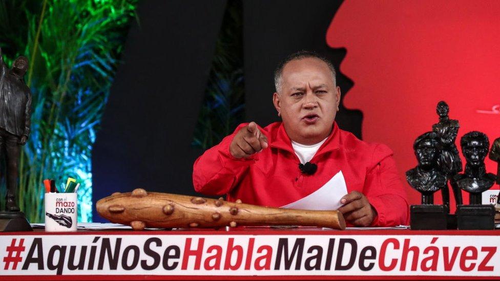 Diosdado Cabello durante el show