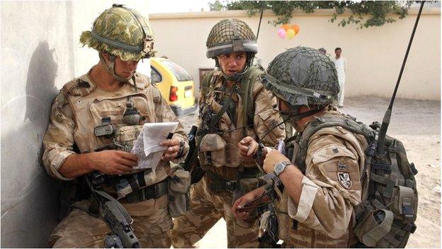 British troops on patrol