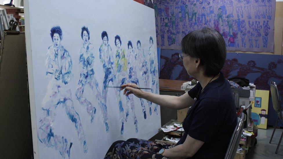 Kim Young-mi painting BTS