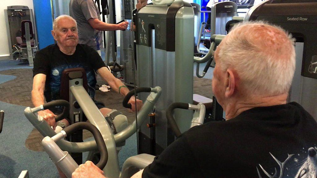 Derbyshire gym-goer, 90, works out three times a week