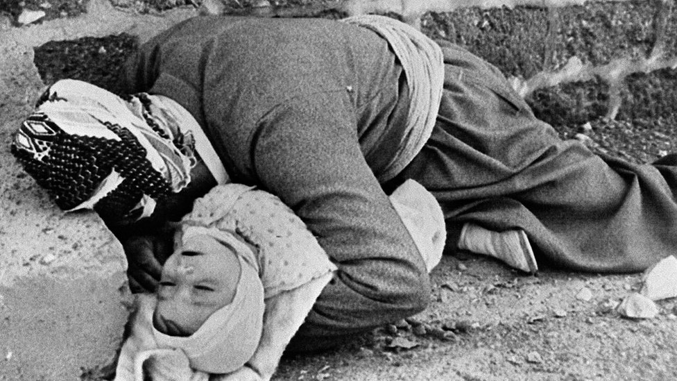 Victims of the poison gas attack on Halabja