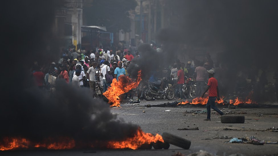 Protestors in Haiti's capital Port-au-Prince