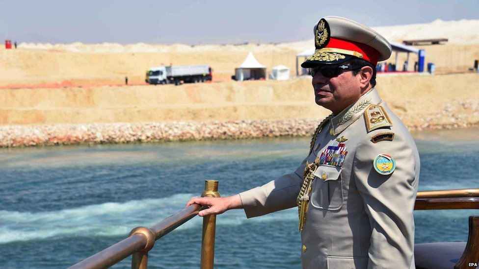 President Sisi at the inauguration