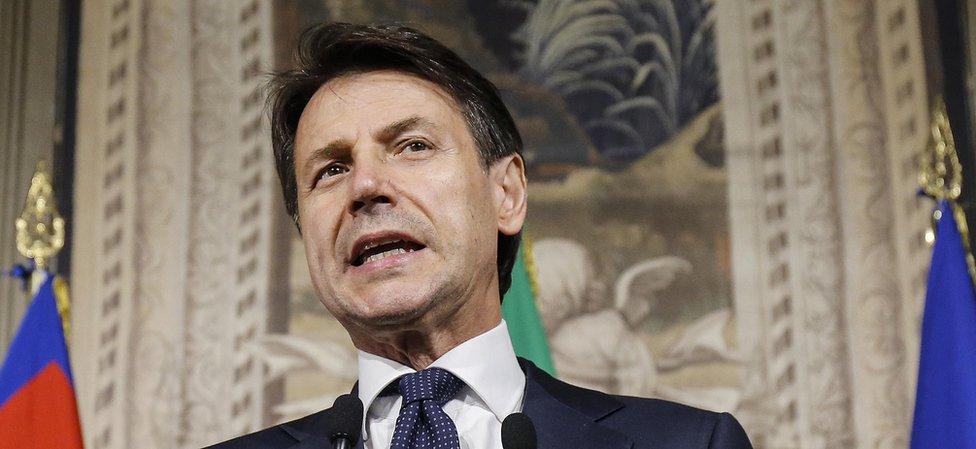 Italy PM-designate Giuseppe Conte, 31 May 18