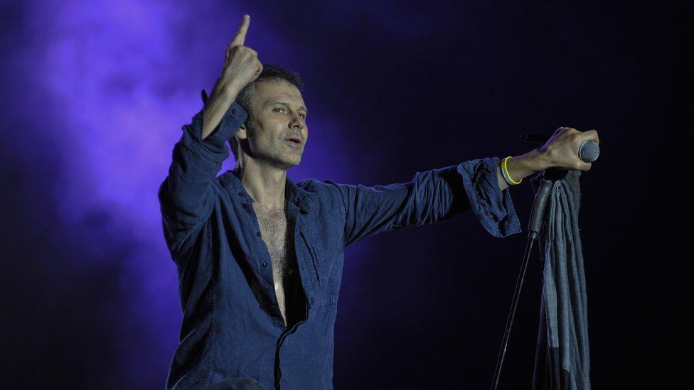Svyatoslav Vakarchuk, leader of the famous Ukrainian rock band 'Okean Elzy'