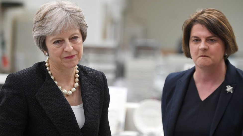 Brexit: DUP tells Theresa May to 'keep her side of the bargain'