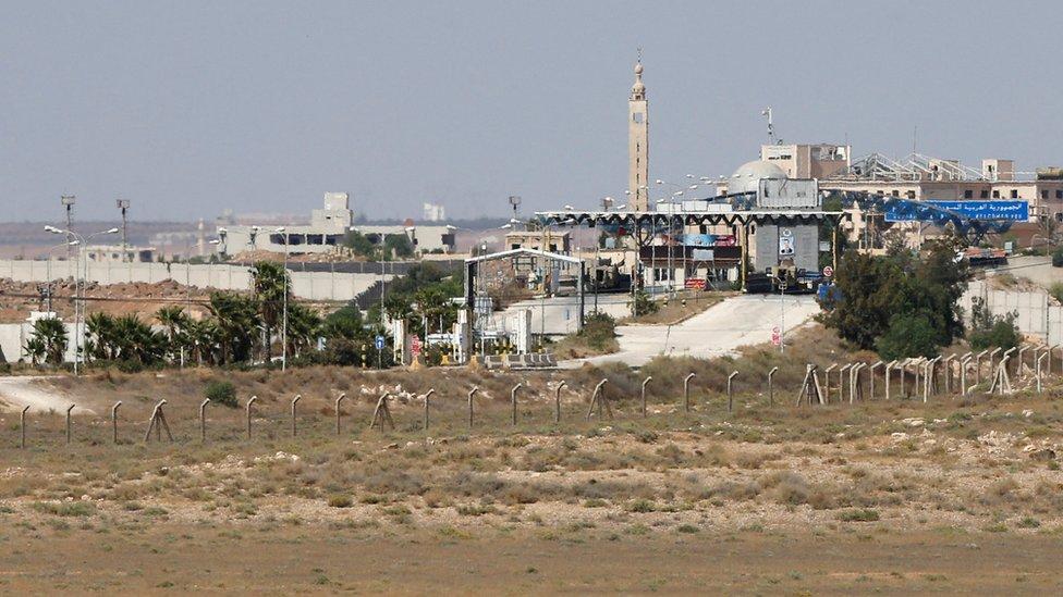 معبر نصيب على الحدود السورية الأردنية