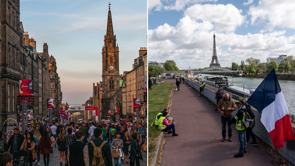 Composite of Edinburgh and Paris