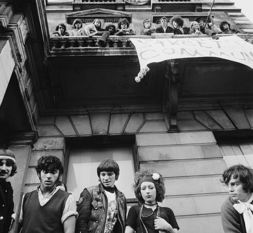 Members of the squat at 144 Piccadilly