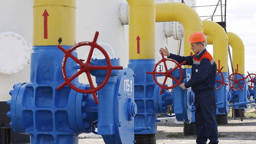 Gasoducto a su paso por Ucrania