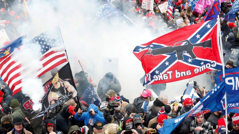 Escenas del asalto al Capitolio en Washington DC el 6 de enero