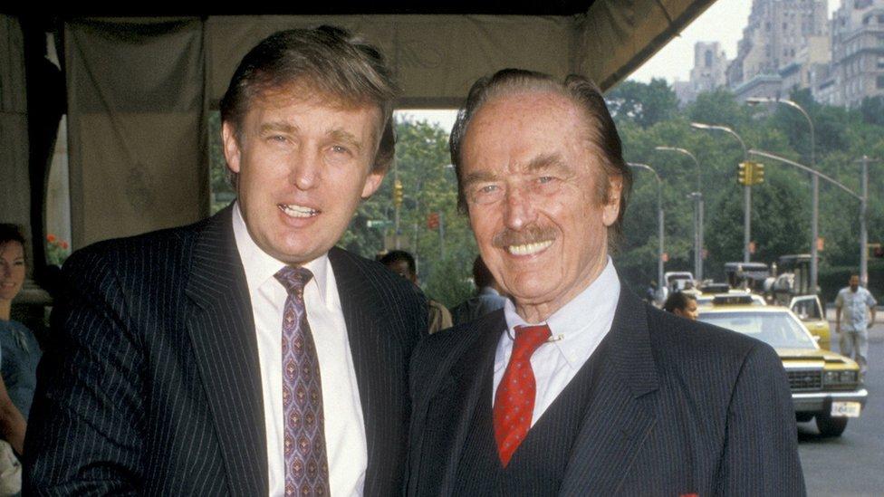Donald y Fred Trump