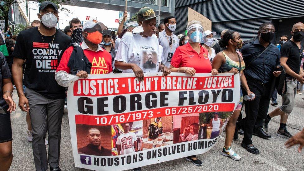 خانواده جورج فلوید در هیوستون به معترضان پیوستند