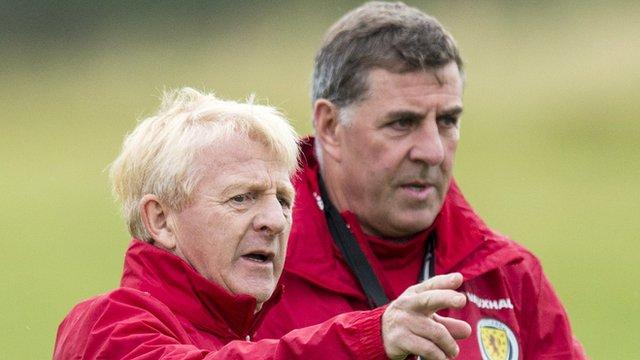 Scotland coach Gordon Strachan and assistant Mark McGhee