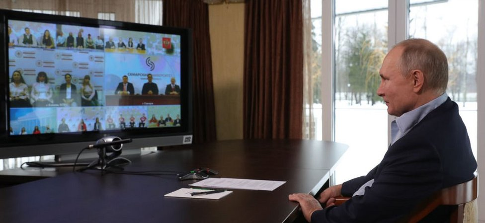 President Putin in video discussion with students, 25 Jan 21