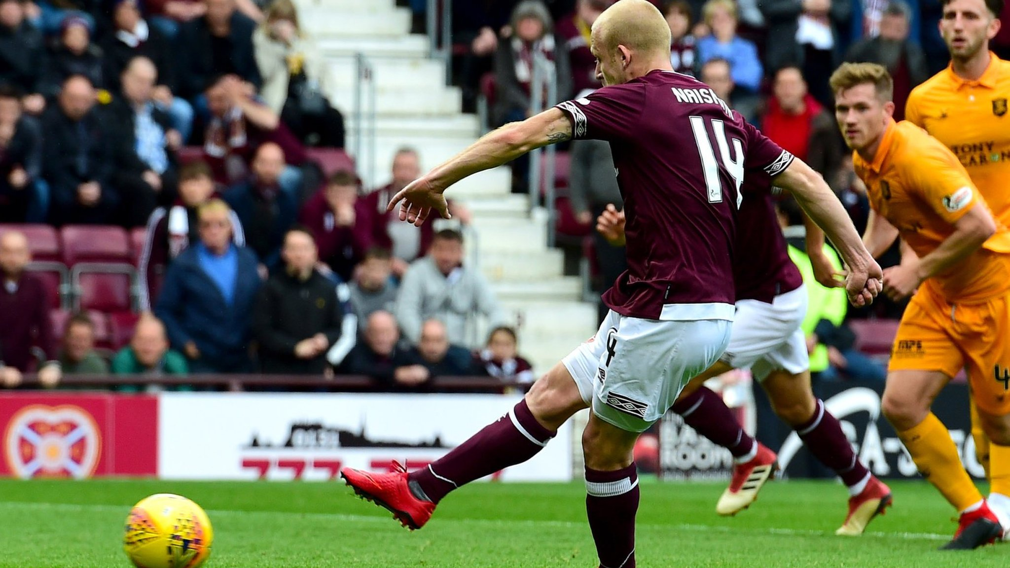 Hearts miss penalty as Livingston hold on