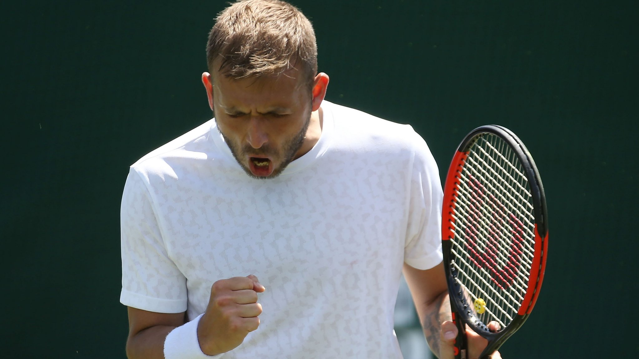 Wimbledon 2018: Dan Evans wins twice in a day to reach qualifying event