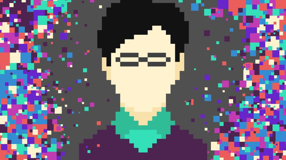 Arte abstracto pixelar inspirado en Shinichi Mochizuki