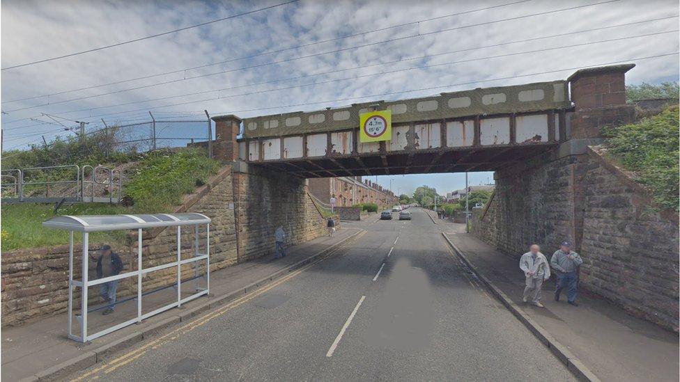 Ayrshire rail disruption after lorry strikes bridge