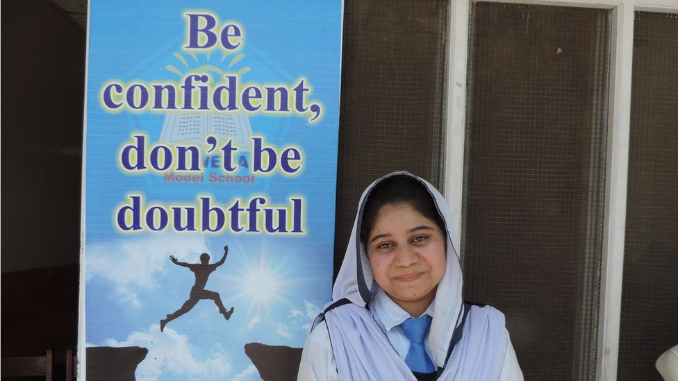 Rashida Shafi, a 10th grade student at Sawera (June 2015)